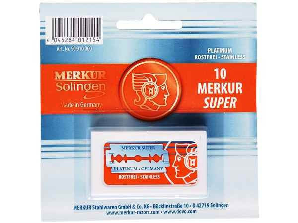 10 merkur double edge safety razor blades || merkur