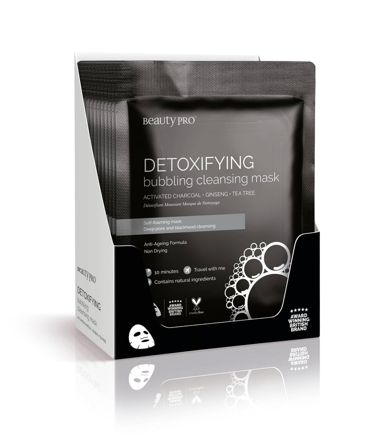 DETOXIFYING Bubbling Cleansing Sheet Mask || Beautypro || BB