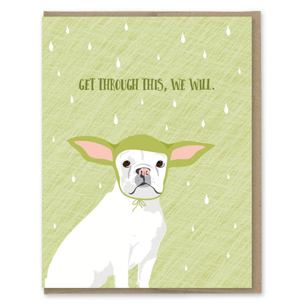 Get Through This Yoda Dog Card
