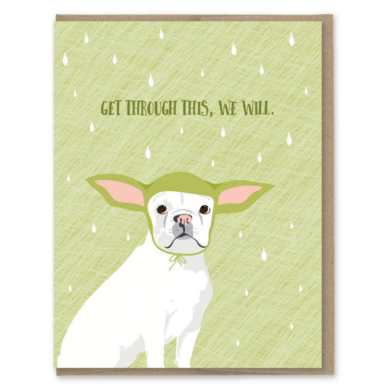 Get Through This Yoda Dog Card || Modern Printed Matter
