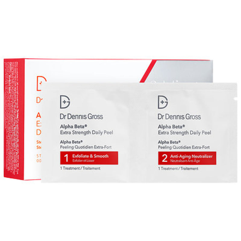 alpha beta extra strength daily face peel 5 pack