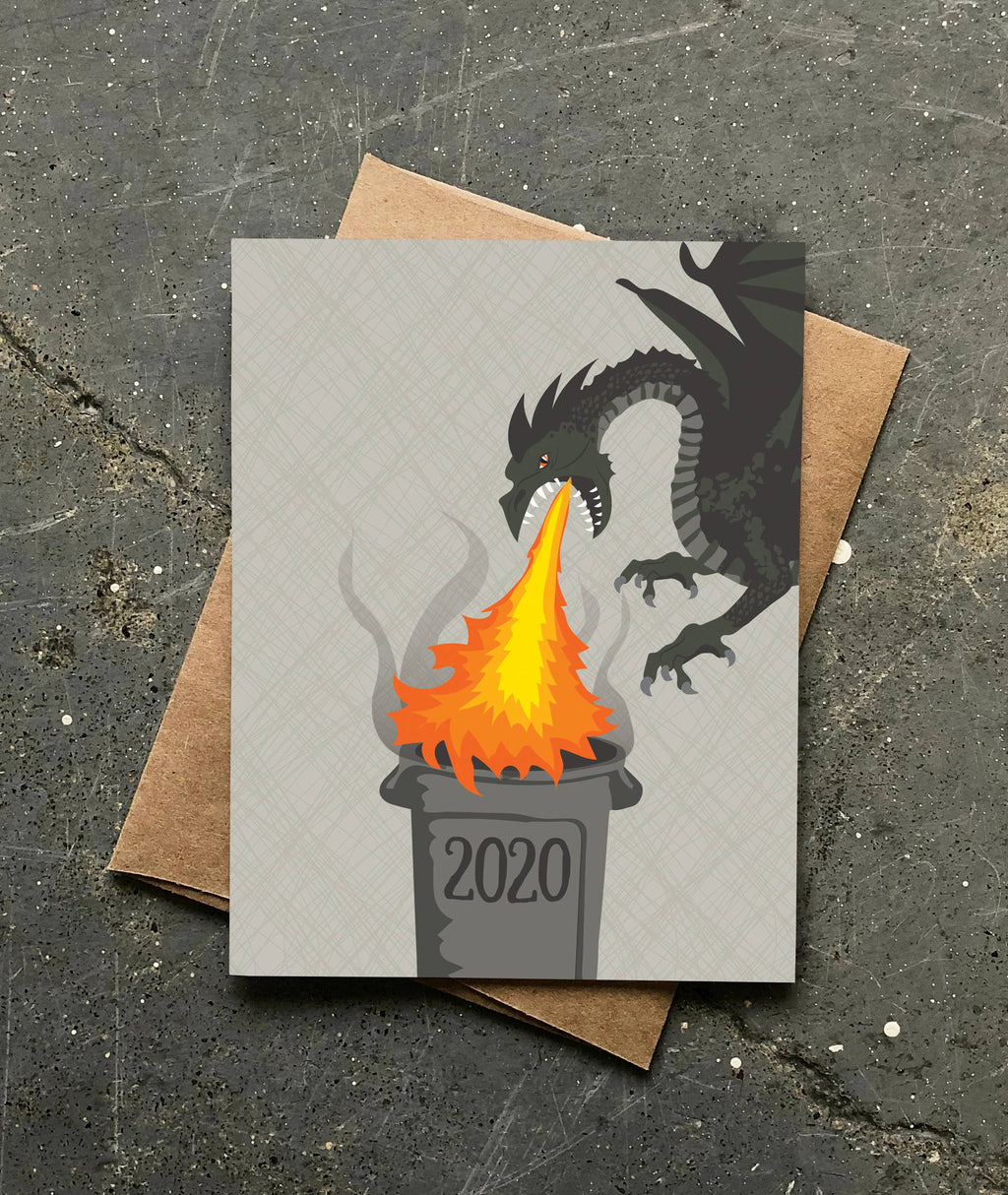 2020 Trash Fire New Year's Card || Modern Printed Matter