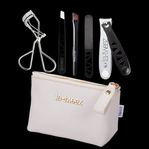 white beauty travel kit || la-tweez || beautybar