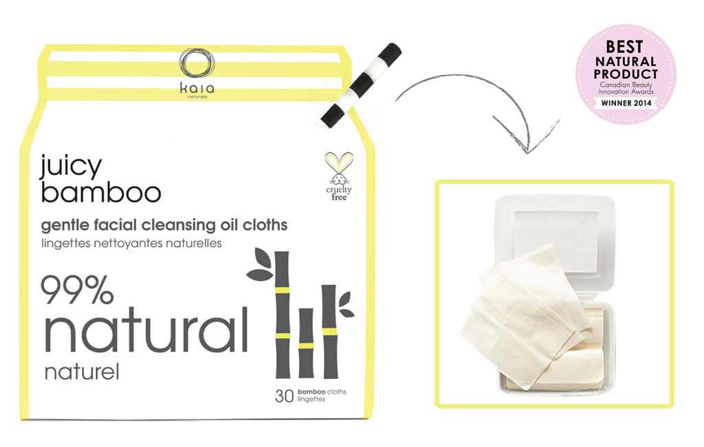 juicy bamboo facial cloths || kaia naturals || beautybar