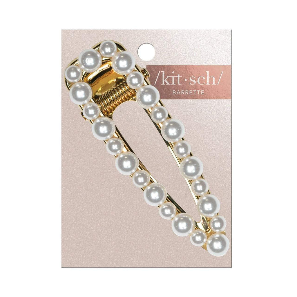 open shape pearl barrette || kitsch || beautybar