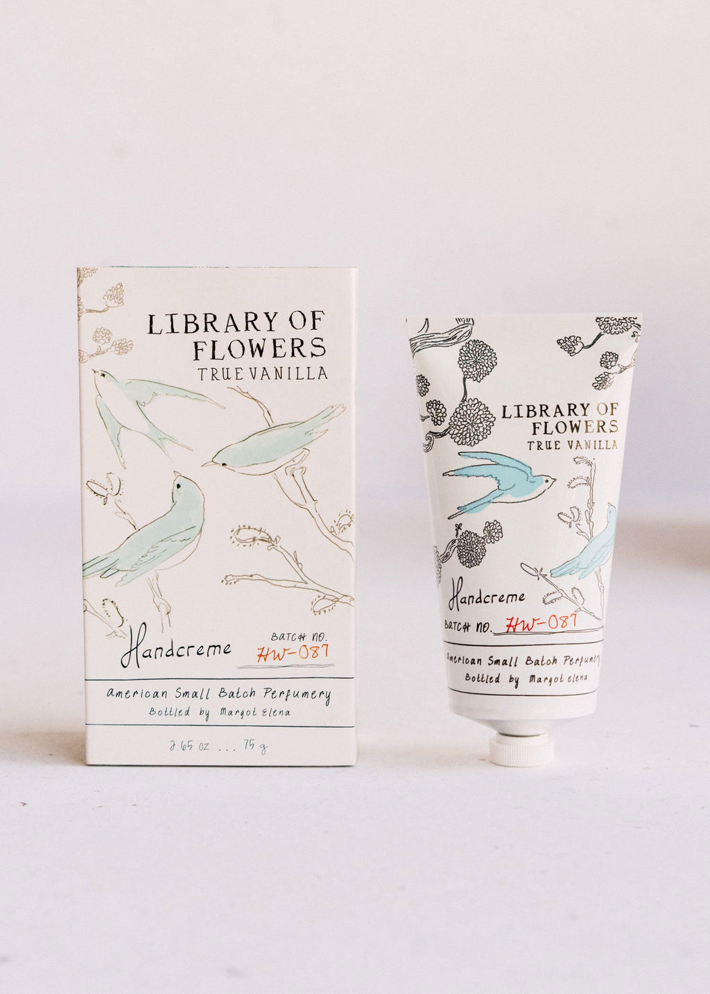 true vanilla boxed handcreme || library of flowers