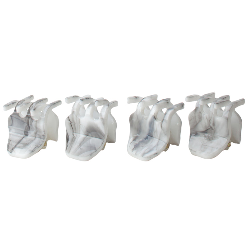 4 piece mini claw clips - marble || kitsch || beautybar