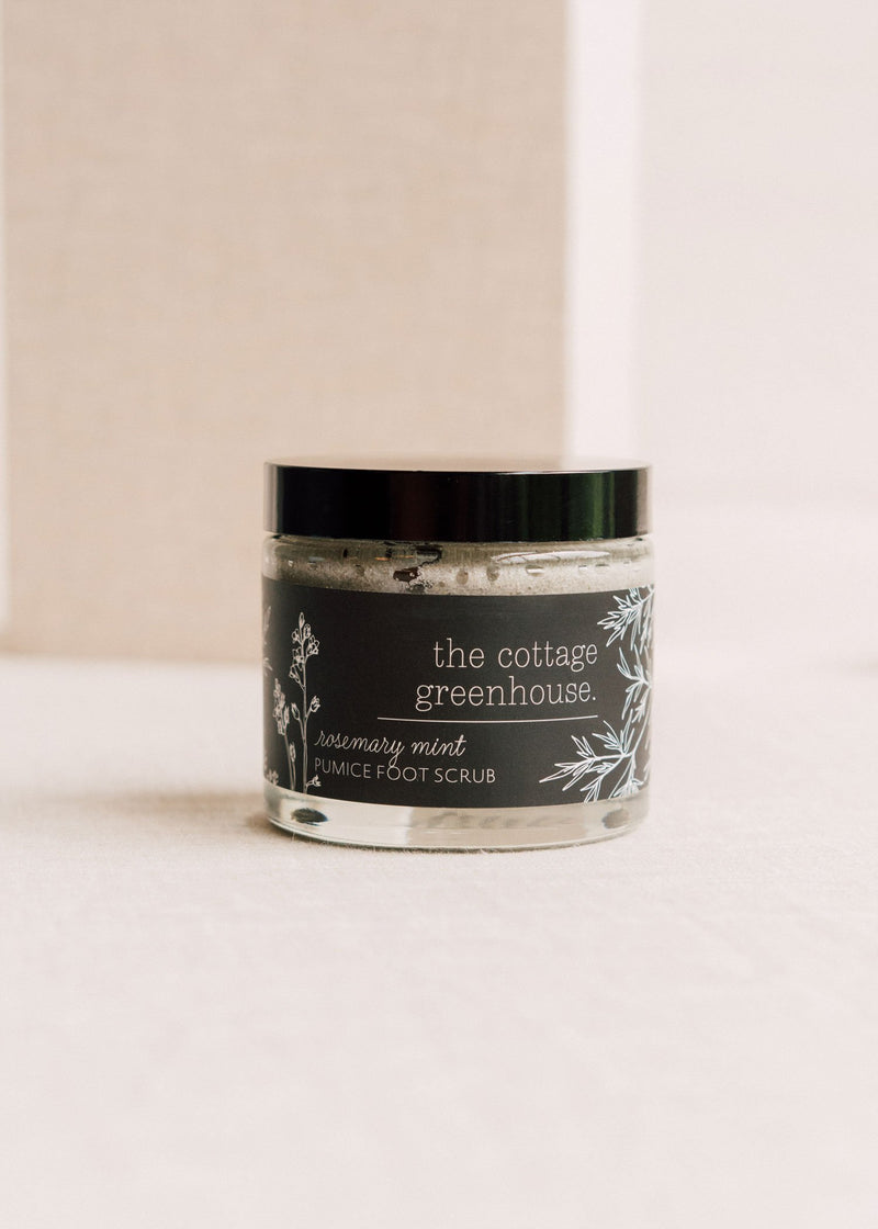 Rosemary Mint Rescue Foot Scrub || The Cottage Greenhouse