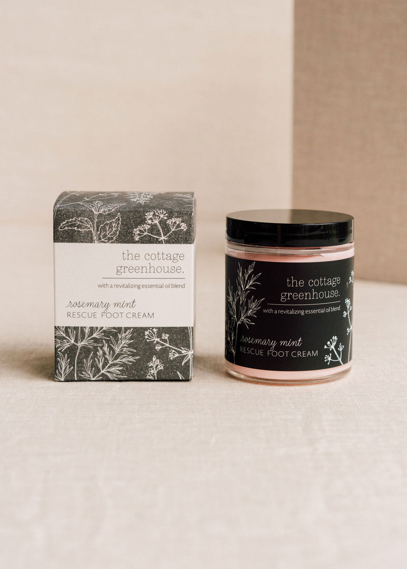 Rosemary Mint Rescue Foot Cream || The Cottage Greenhouse