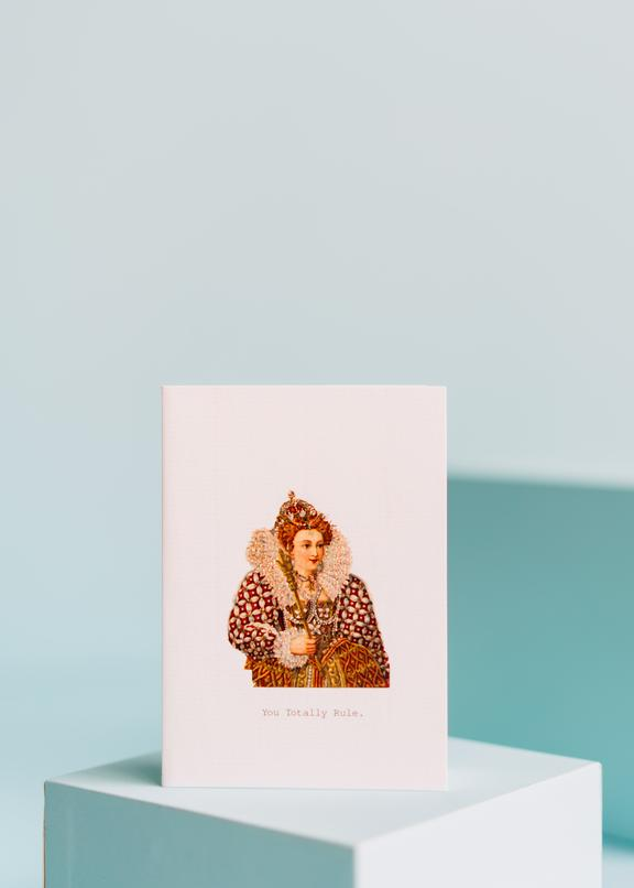 you totally rule greeting card