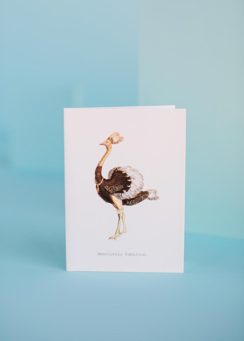 absolutely fabulous greeting card || tokyomilk
