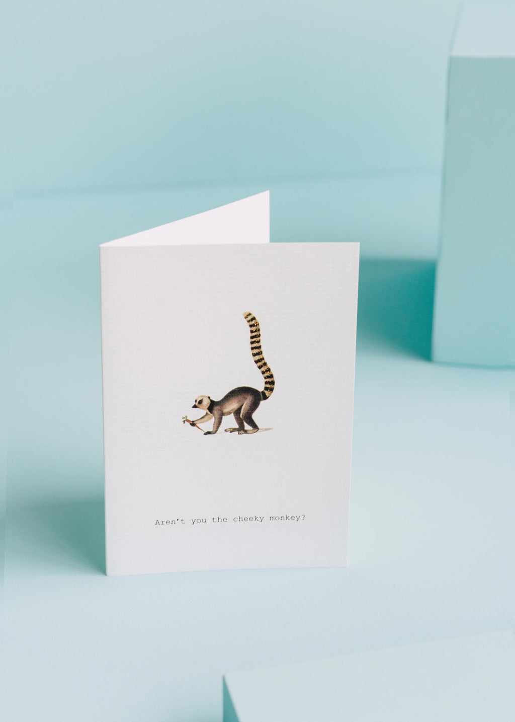 aren't you the cheeky monkey? greeting card || tokyomilk