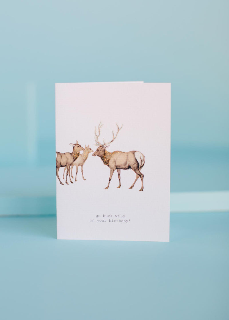 go buck wild greeting card