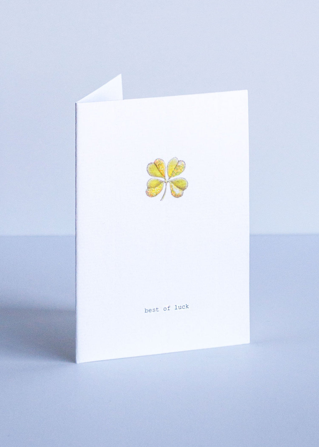 good luck clover greeting card || tokyomilk || beautybar