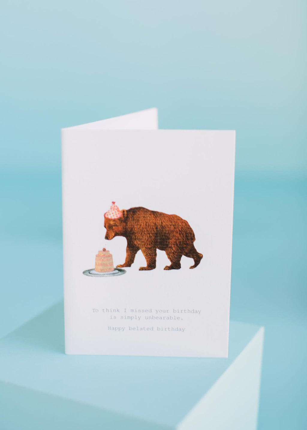 simply unbearable birthday card