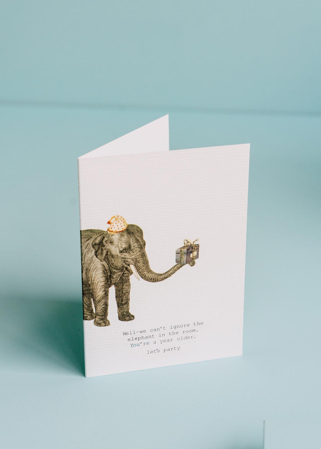 we can't ignore the elephant greeting card || tokyomilk