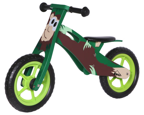 Kobe Wooden Balance Bike - Brown Monkey