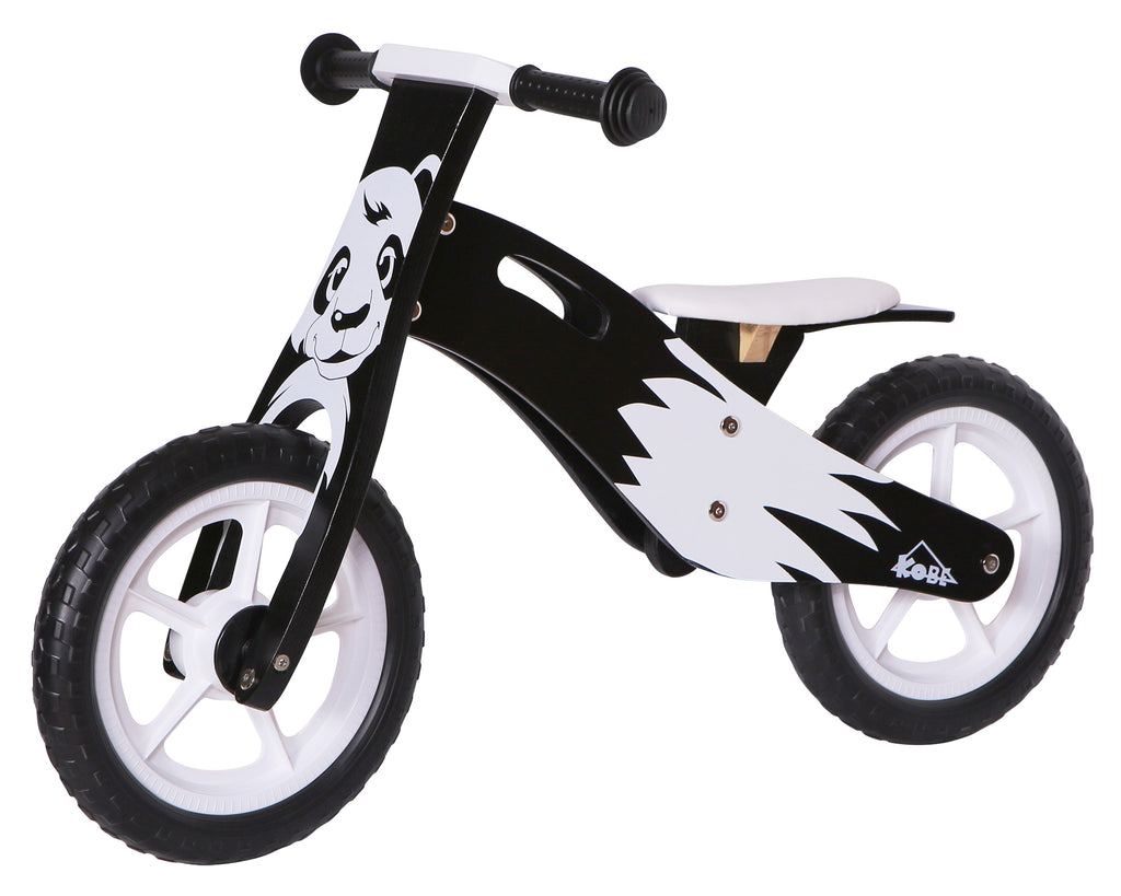 Kobe Wooden Balance Bike - Black Panda