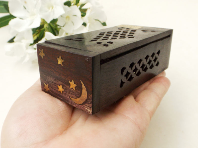 Premium Dark Amber Resin Incense with Wood Gift Box - Esoteric Aroma