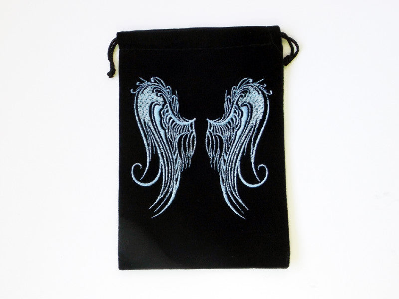 Velvet Pouch - Angel Wings Oracle Bag, Tarot Bag - Esoteric Aroma