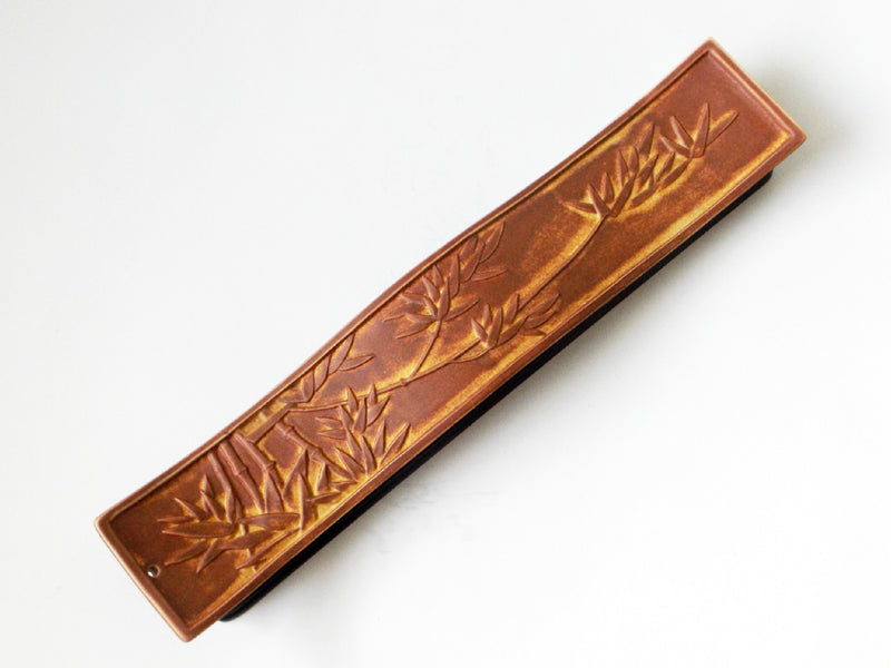 Ceramic Bamboo Leaves incense burner - Esoteric Aroma