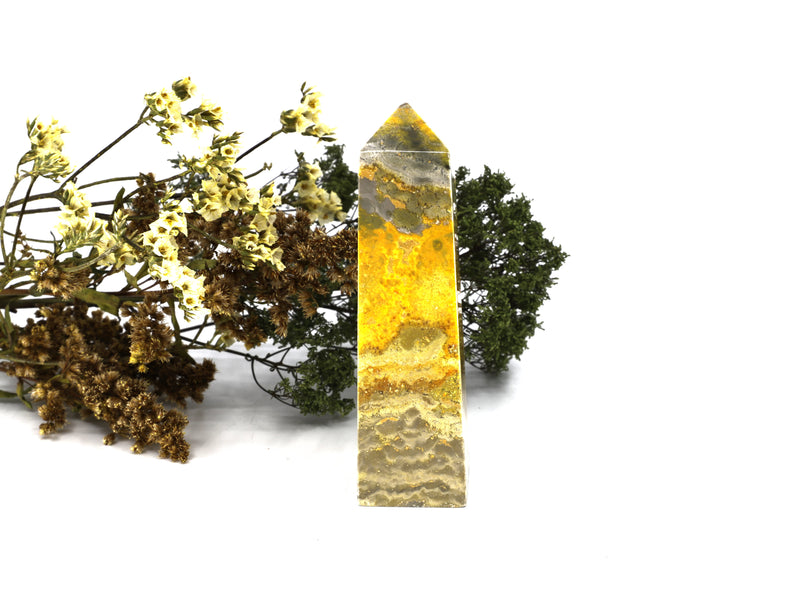 Bumble Bee Jasper obelisk - Esoteric Aroma