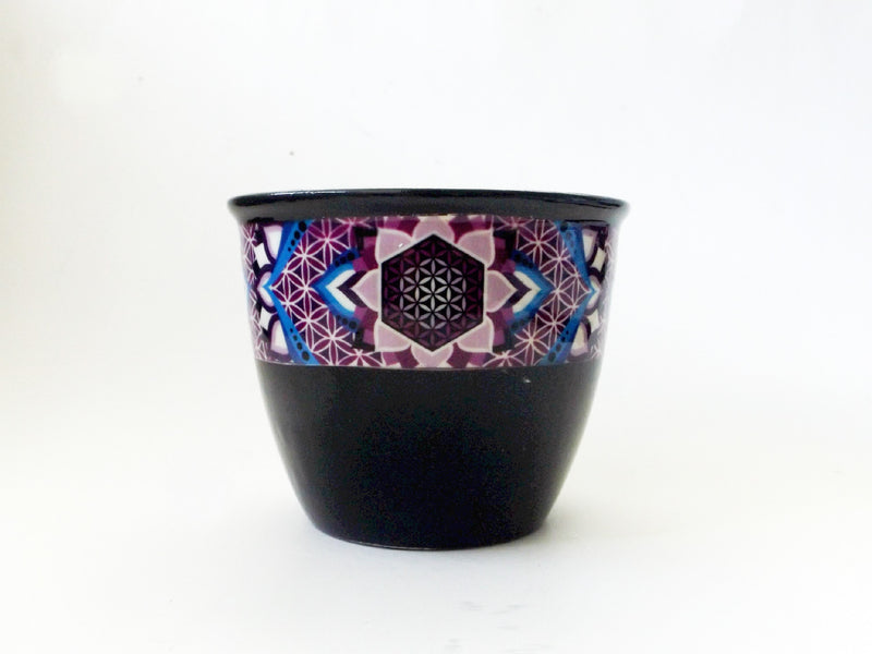 Ceramic Sage Pot | Flower of Life - Esoteric Aroma