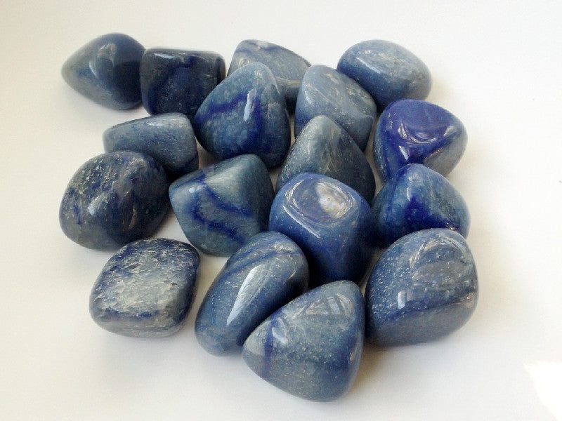 Blue Quartz Tumbled Crystal - 2 pcs - Esoteric Aroma