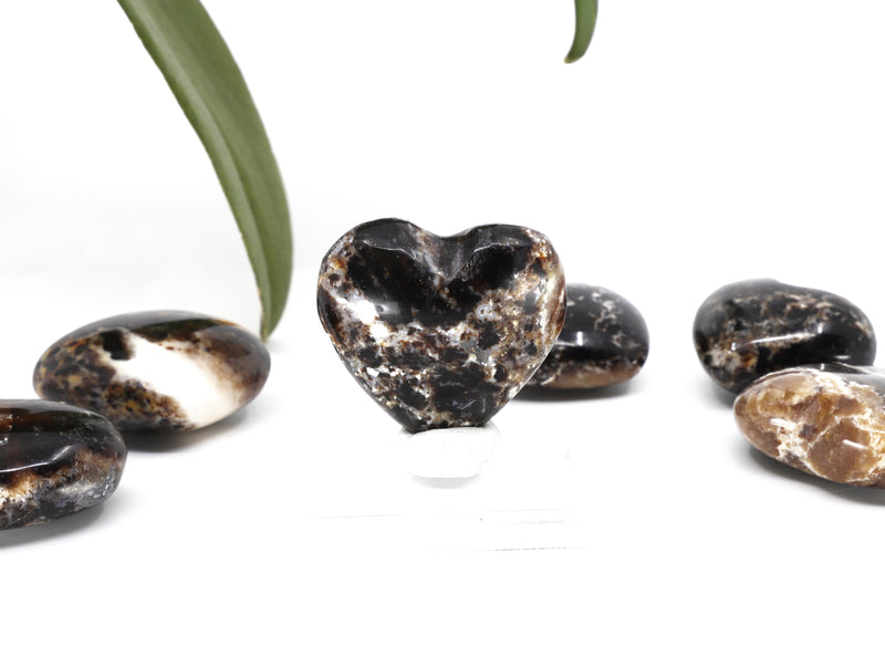 Black Opal crystal heart