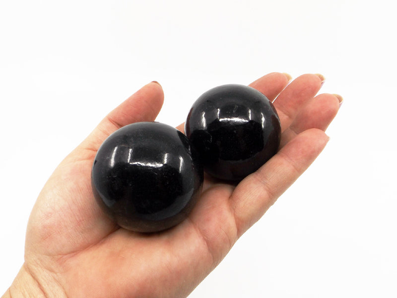 Black Tourmaline crystal ball - Esoteric Aroma