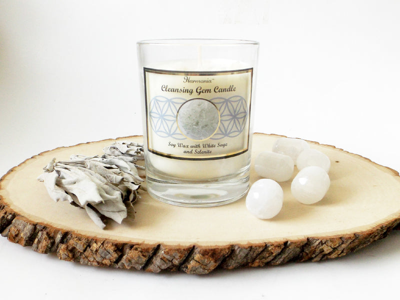 Cleansing gemstone soy candle - Esoteric Aroma