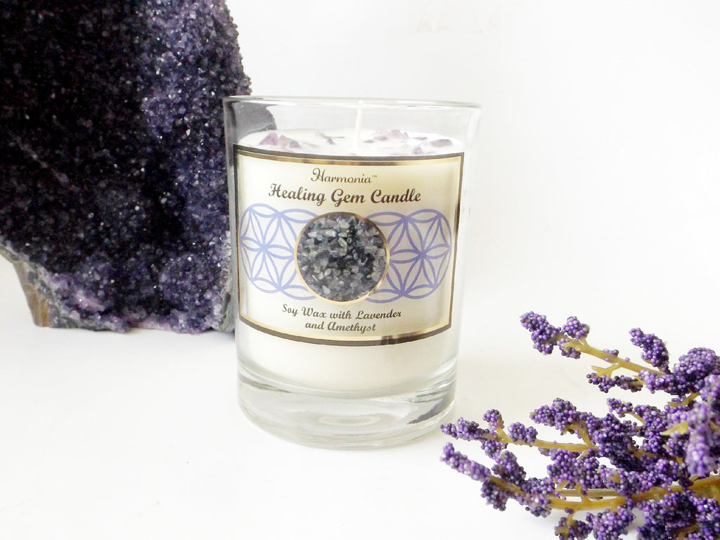 Healing gemstone soy candle - Esoteric Aroma