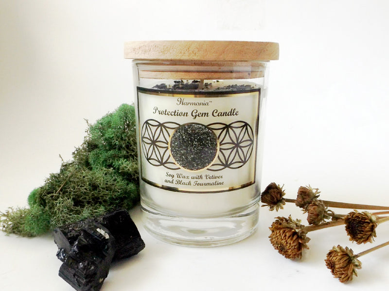 Protection gemstone soy candle - Esoteric Aroma