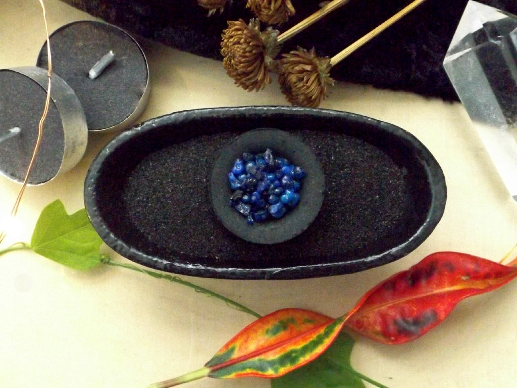 Black Incense Burner Sand