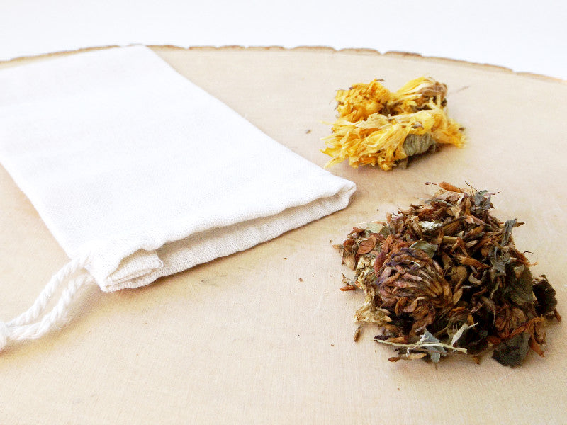 Organic Cotton Tea Bag - 3pcs - Esoteric Aroma