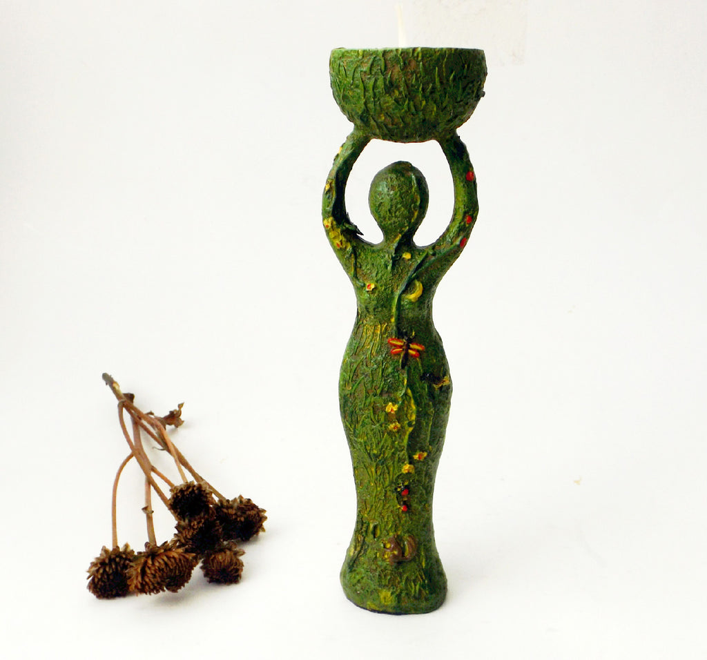 Mother Nature goddess tealight holder - Esoteric Aroma