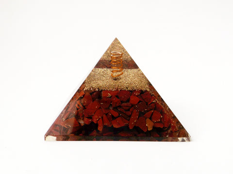 Red Jasper Orgone Pyramid