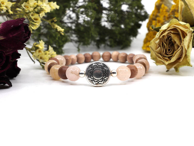Pink Morganite gemstone bracelet