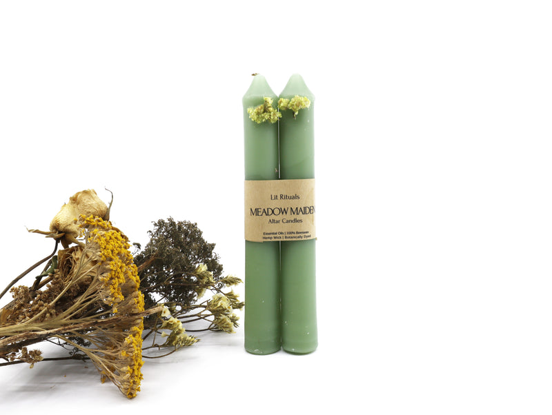 Meadow Maiden altar candle set