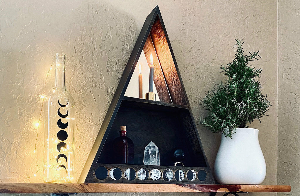 Moon Phase Altar Shelf - Esoteric Aroma