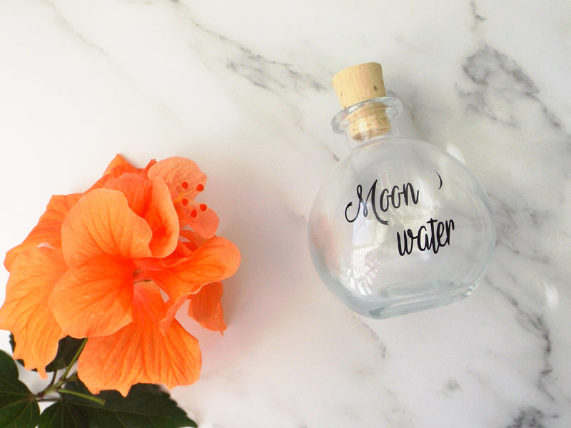 Moon water glass bottle - Esoteric Aroma