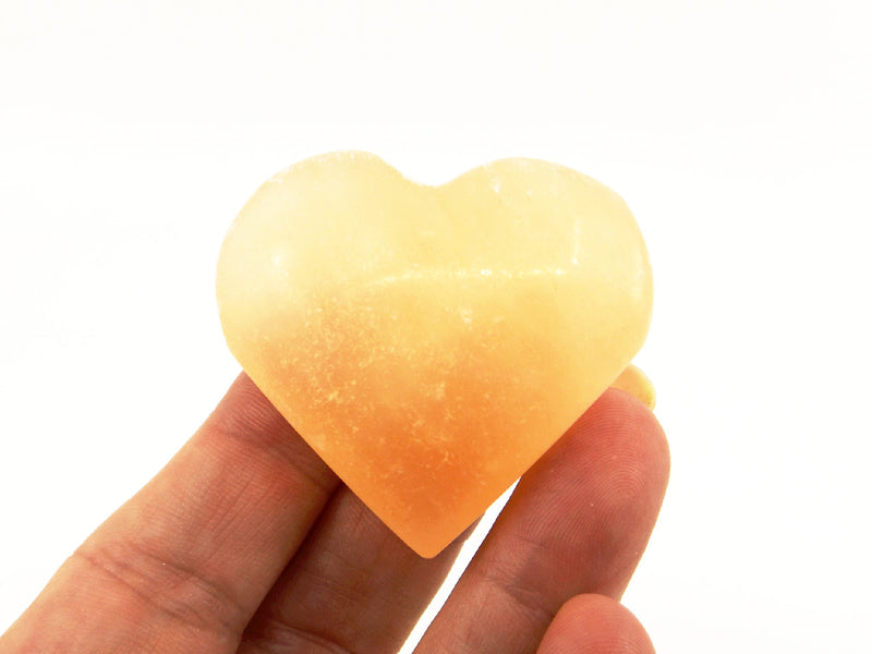 Orange Selenite heart - Esoteric Aroma