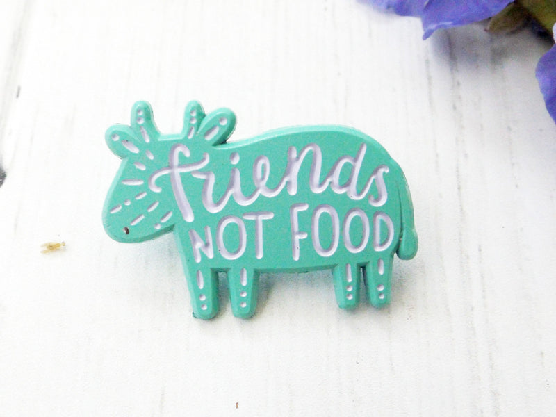 Friends Not Food enamel pin - Esoteric Aroma