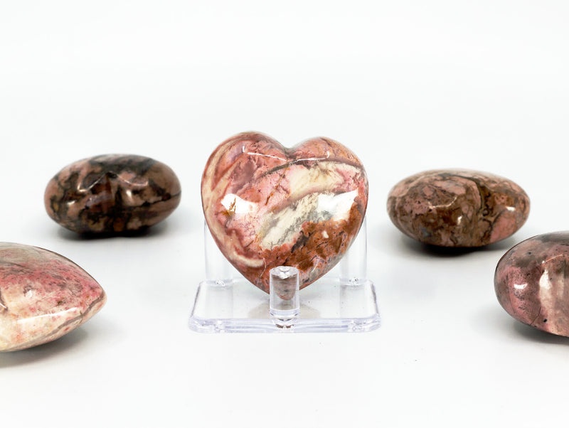 Rhodonite puffy heart - Esoteric Aroma