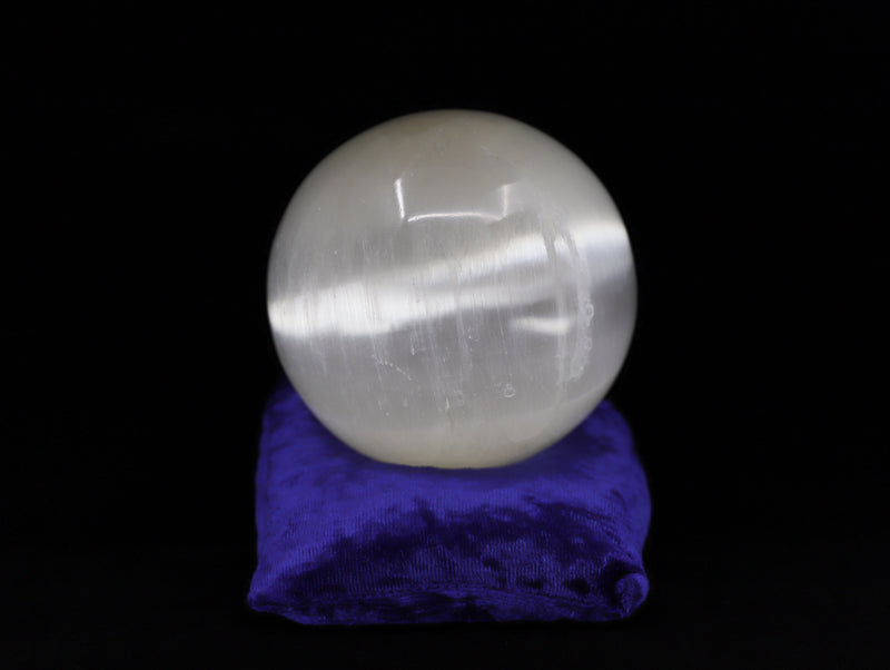 Selenite gazing ball