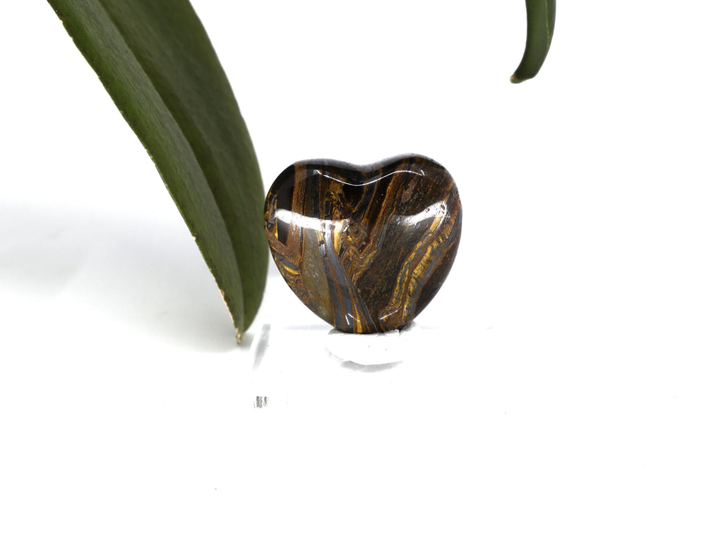 Tiger Iron gemstone heart