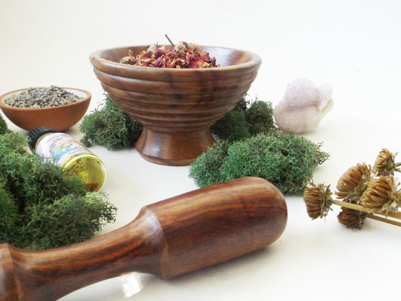 Wood Mortar and Pestle Set