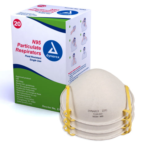 Dynarex N95 Medical Particulate Respirator Masks- 2295