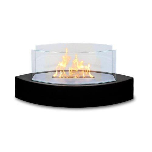 Anywhere Fireplace - Lexington Tabletop Ethanol Fireplace in Black High Gloss