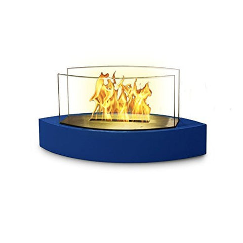 Anywhere Fireplace - Lexington Model Tabletop Bio-ethanol Fireplace in High Gloss Blue